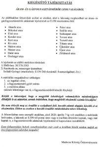 KIEGÉSZÍTÉS: Áram- és gázfogyasztásmérők leolvasásáról (20.04.09.)